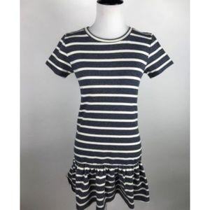 ASOS Petite Navy Blue Striped Peplum Tunic Dress